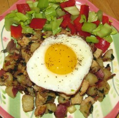 Turkey Hash with Egg