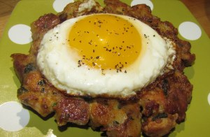 Turkey Hash Patty with Egg