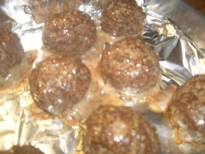 potato kugel and meatballs 133