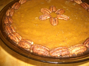 Maple Pumpkin Pie with Nut Crust